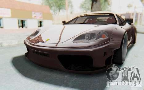 Ferrari 360 Modena Liberty Walk LB Perfomance v1 для GTA San Andreas вид сзади
