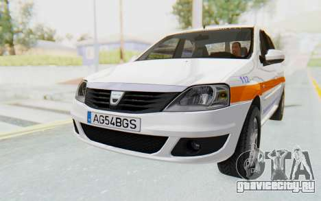 Dacia Logan Facelift Ambulanta для GTA San Andreas вид справа