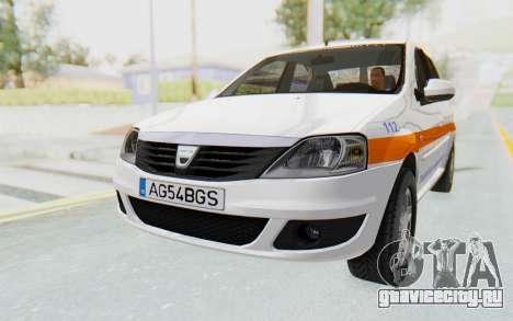 Dacia Logan Facelift Ambulanta для GTA San Andreas вид справа
