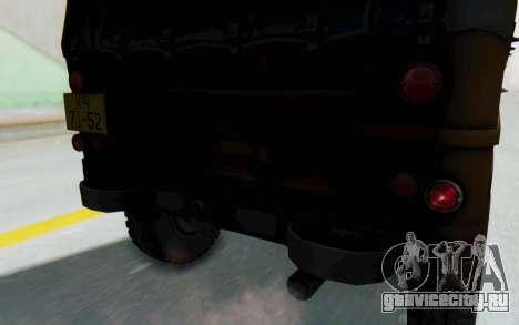 УАЗ-460Б IVF для GTA San Andreas вид изнутри
