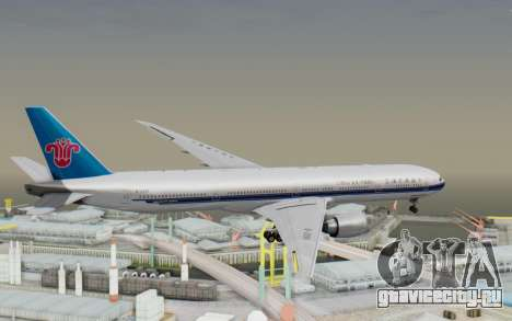 Boeing 777-300ER China Southern Airlines для GTA San Andreas вид справа