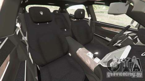 Maserati Quattroporte 2013 для GTA 5 вид спереди справа