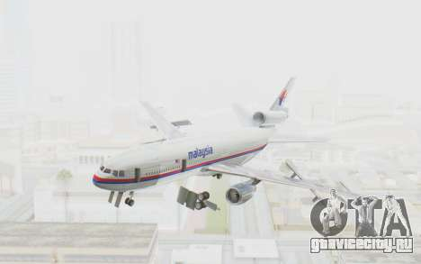 DC-10-30 Malaysia Airlines (Old Livery) для GTA San Andreas вид сзади слева