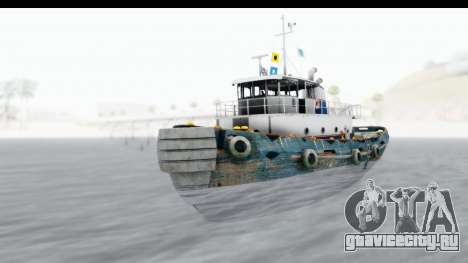 GTA 5 Buckingham Tug Boat v1 IVF для GTA San Andreas вид справа