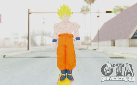 Dragon Ball Xenoverse Goku Shirtless SSJ для GTA San Andreas второй скриншот