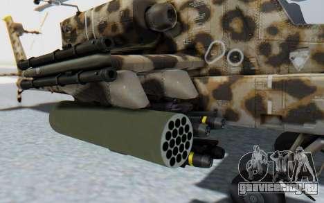 AH-64 Apache Leopard для GTA San Andreas вид сзади