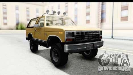 Ford Bronco 1980 IVF для GTA San Andreas вид сзади слева