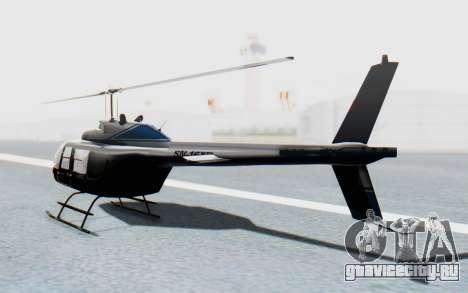 Bell 206B-III Jet Ranger Policja для GTA San Andreas вид слева