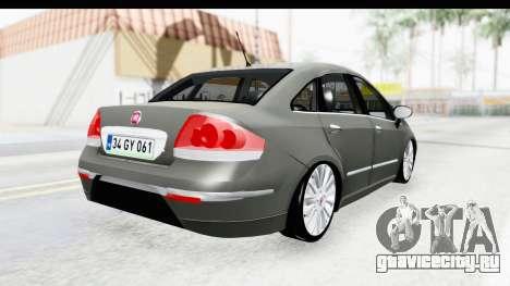 Fiat Linea 2014 для GTA San Andreas вид справа