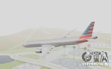 Boeing 777-300ER American Airlines N727AN для GTA San Andreas вид слева