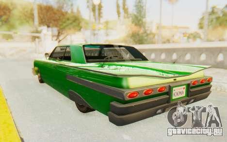 GTA 5 Declasse Voodoo SA Lights для GTA San Andreas вид сзади слева