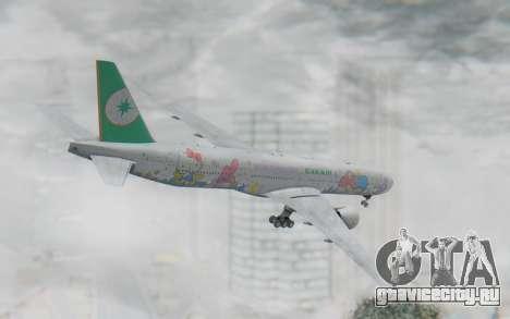 Boeing 777-300ER Eva Air v2 для GTA San Andreas вид слева