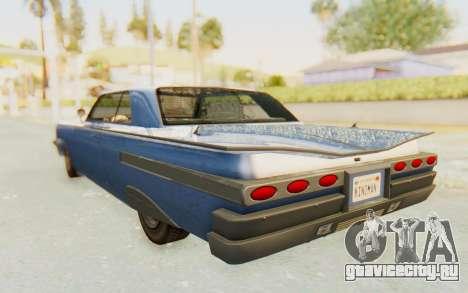 GTA 5 Declasse Voodoo Alternative v1 для GTA San Andreas вид справа