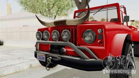 GTA 5 Canis Bodhi IVF для GTA San Andreas вид сзади