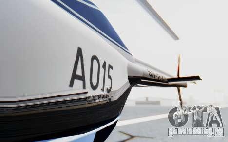 Bell 206B-III Jet Ranger Policja для GTA San Andreas вид изнутри