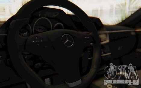 Mercedes-Benz E63 German Police Blue для GTA San Andreas вид изнутри