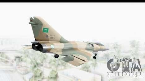 Dassault Mirage 4000 Royal Saudi Air Force для GTA San Andreas вид справа