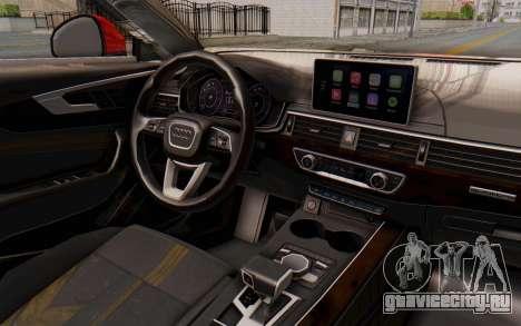 Audi A4 2017 IVF для GTA San Andreas вид сбоку