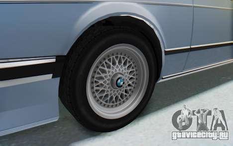 BMW M635 CSi (E24) 1984 IVF PJ1 для GTA San Andreas вид сзади
