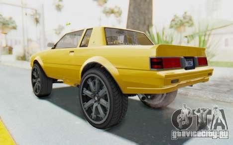 GTA 5 Willard Faction Custom Donk v1 IVF для GTA San Andreas вид слева
