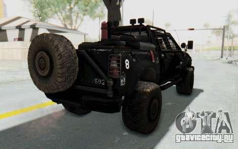 Toyota Hilux Technical Vindicator SecFor для GTA San Andreas вид сзади слева