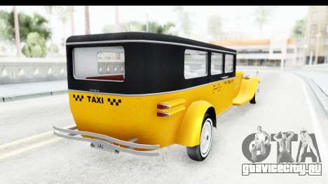 Unique V16 Fordor Taxi для GTA San Andreas вид справа