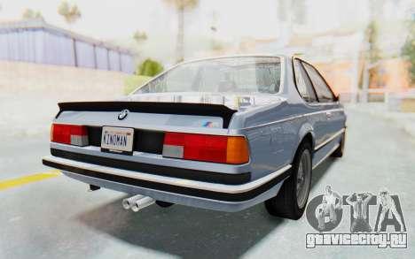 BMW M635 CSi (E24) 1984 IVF PJ1 для GTA San Andreas вид слева