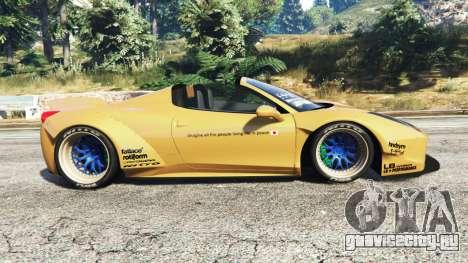 Ferrari 458 Spider [Liberty Walk] для GTA 5 вид слева