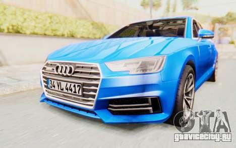 Audi A4 2017 HQLM для GTA San Andreas вид справа
