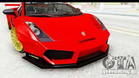 Lamborghini Gallardo Superleggera 2007 для GTA San Andreas вид сбоку