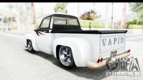 GTA 5 Vapid Slamvan without Hydro для GTA San Andreas колёса
