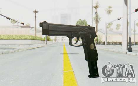 Tariq Iraqi Pistol Back v1 Black Long Ammo для GTA San Andreas