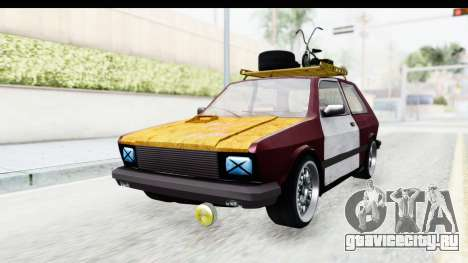 Zastava Yugo Koral Rat Style для GTA San Andreas вид справа