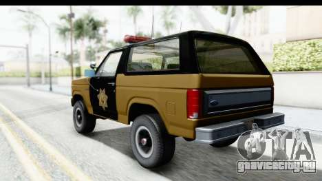 Ford Bronco 1982 Police IVF для GTA San Andreas вид слева