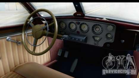 Cord 812 Charged Beverly Low Chrome для GTA San Andreas вид изнутри