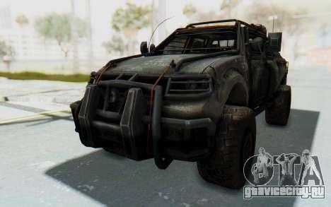 Toyota Hilux Technical для GTA San Andreas вид справа