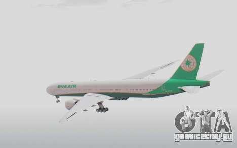Boeing 777-300ER Eva Air v3 для GTA San Andreas вид справа