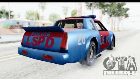 Hotring Police для GTA San Andreas вид справа