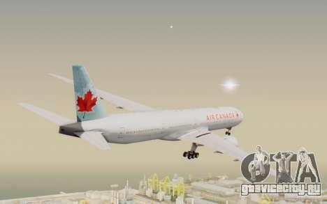 Boeing 777-300ER Air Canada для GTA San Andreas вид справа