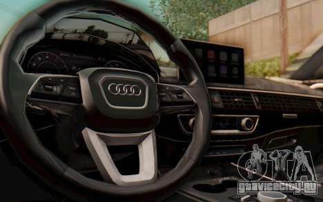 Audi A4 2017 HQLM для GTA San Andreas вид изнутри