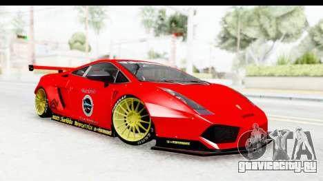 Lamborghini Gallardo Superleggera 2007 для GTA San Andreas