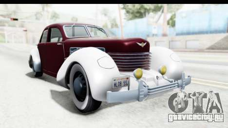 Cord 812 Charged Beverly Low Chrome для GTA San Andreas