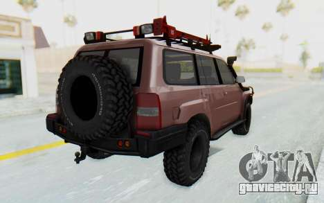 Nissan Patrol Y61 Off Road для GTA San Andreas вид сзади слева
