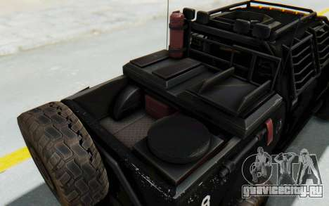 Toyota Hilux Technical Vindicator SecFor для GTA San Andreas вид изнутри