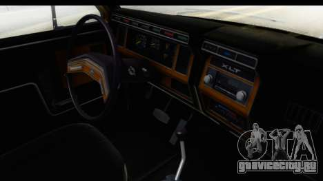 Ford Bronco 1980 IVF для GTA San Andreas вид изнутри