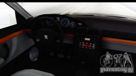 Peugeot 406 Coupe для GTA San Andreas вид изнутри