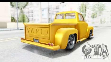 GTA 5 Vapid Slamvan without Hydro для GTA San Andreas вид справа