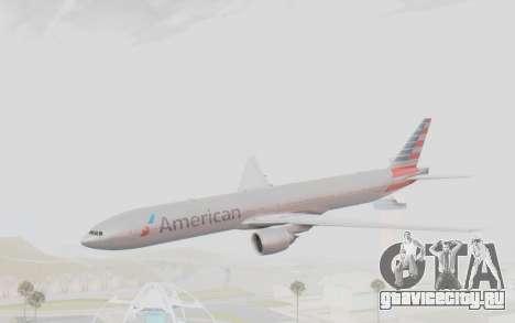 Boeing 777-300ER American Airlines N727AN для GTA San Andreas вид сзади слева