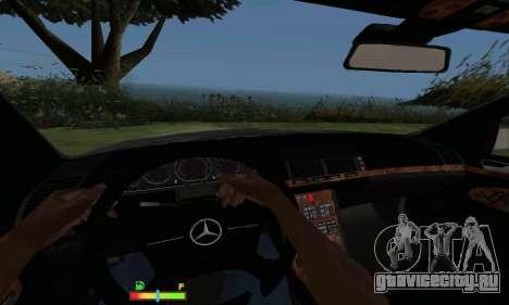 Mercedes-Benz MB W140 1999 для GTA San Andreas вид сзади