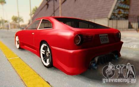Elegy GT v1 для GTA San Andreas вид слева